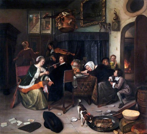 Domestic scene of food and drink