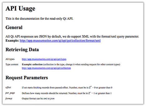 Screen of the API interface,The API interface - the exiting part is what you can do with it