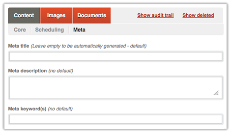 Screen of the content metadata tab in Qi,Content metadata in Qi