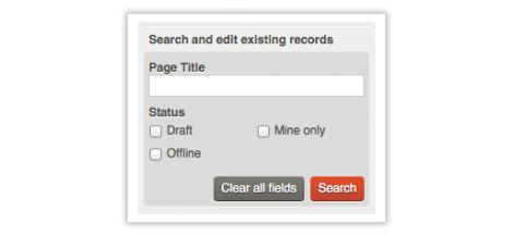 Screen of the search module in Qi,The search module in Qi
