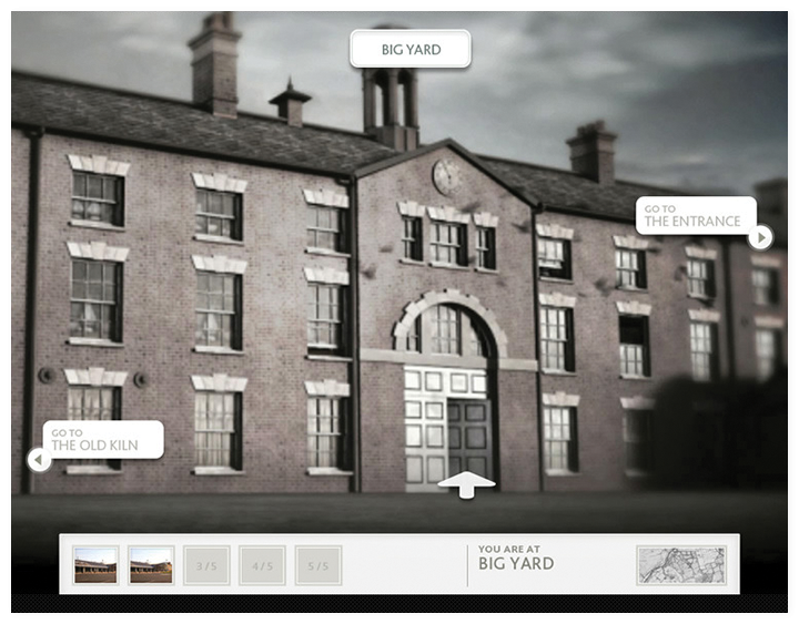 Screen of the Virtual Etruria interactive.