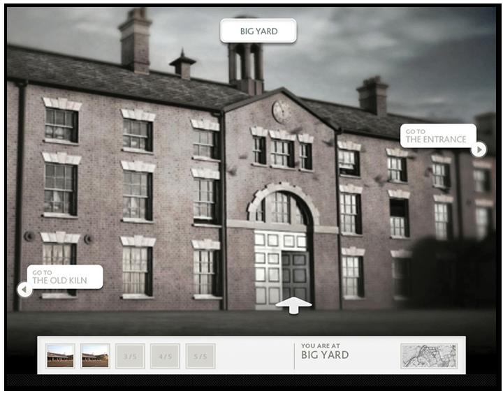 Screen of the Virtual Etruria interactive.