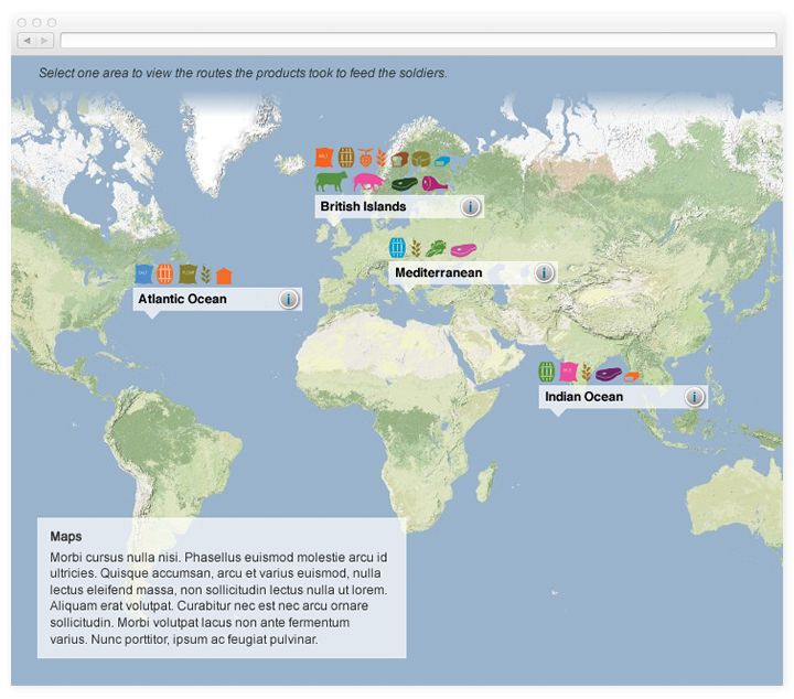 Key world map of food traffic.