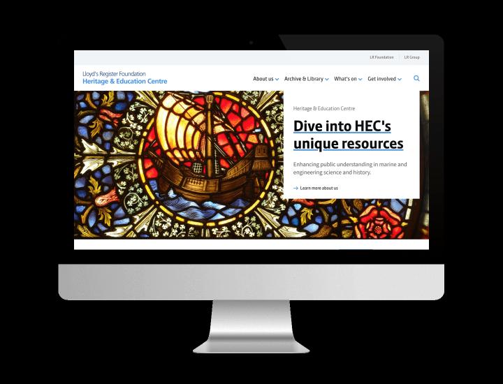 Lloyd's Register homepage in Mac screen