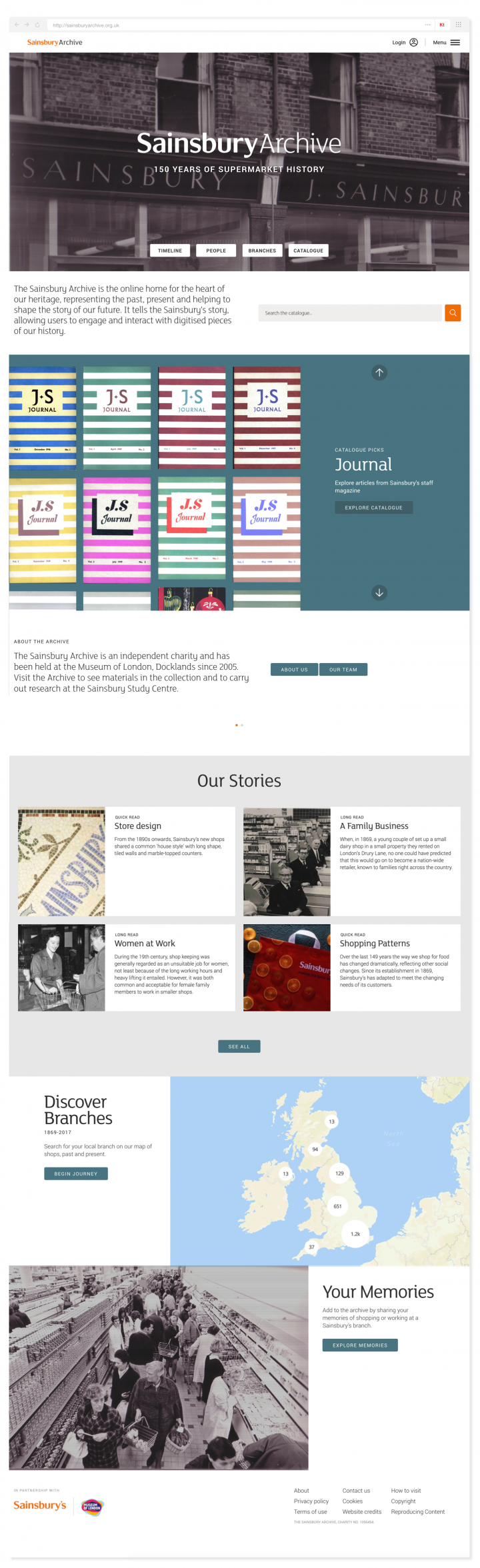 Sainsbury Archive homepage in full